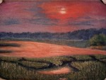 Marsh Study, Cape Cod Marsh - Sunset