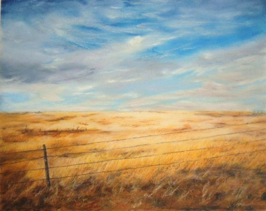 Oil Pastel Art Landscape