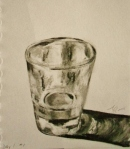Glass Reflections, charcoal