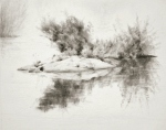 Lake Reflections, graphite