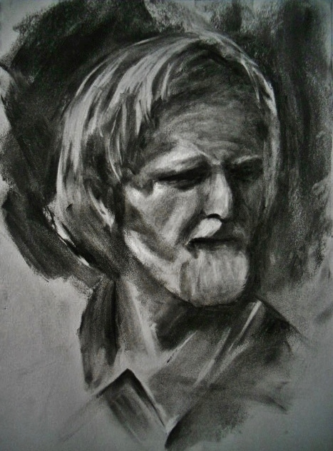 study based off of an original charcoal drawing by nathan fowkes oil