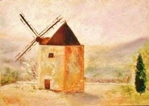 Windmill in St-Saturnin-les-Apt in Provence, France