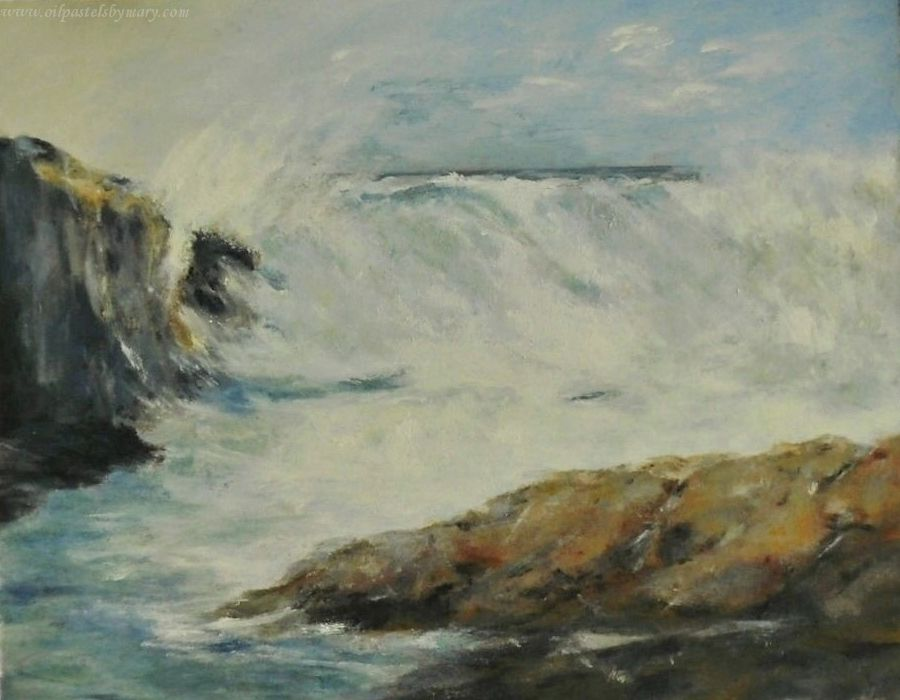 Seascape Paintings Acrylics Oil Pastels By Mary