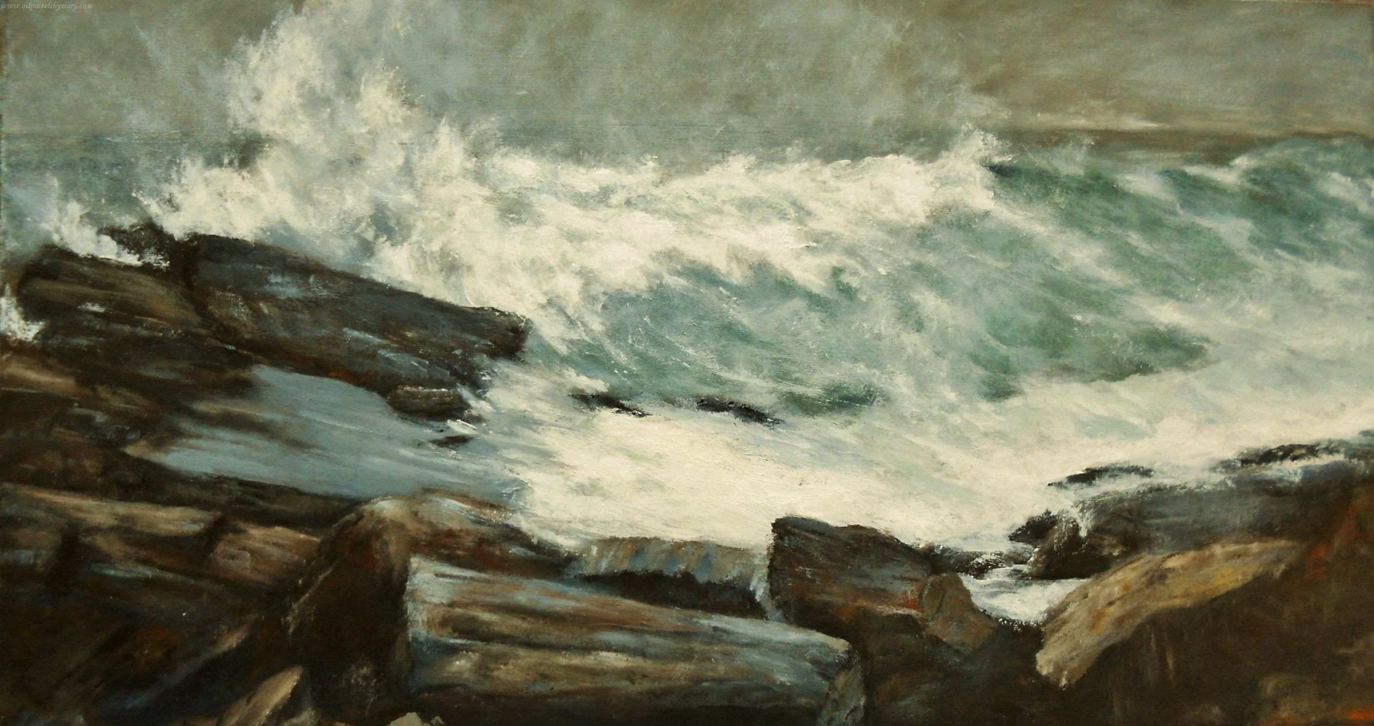 Acrylic Painting Ocean Study 4 A Study Based On Winslow Homers