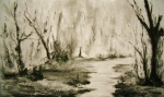 Time to Wander, charcoal