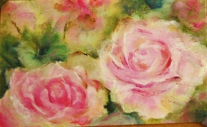 Pink Roses Study