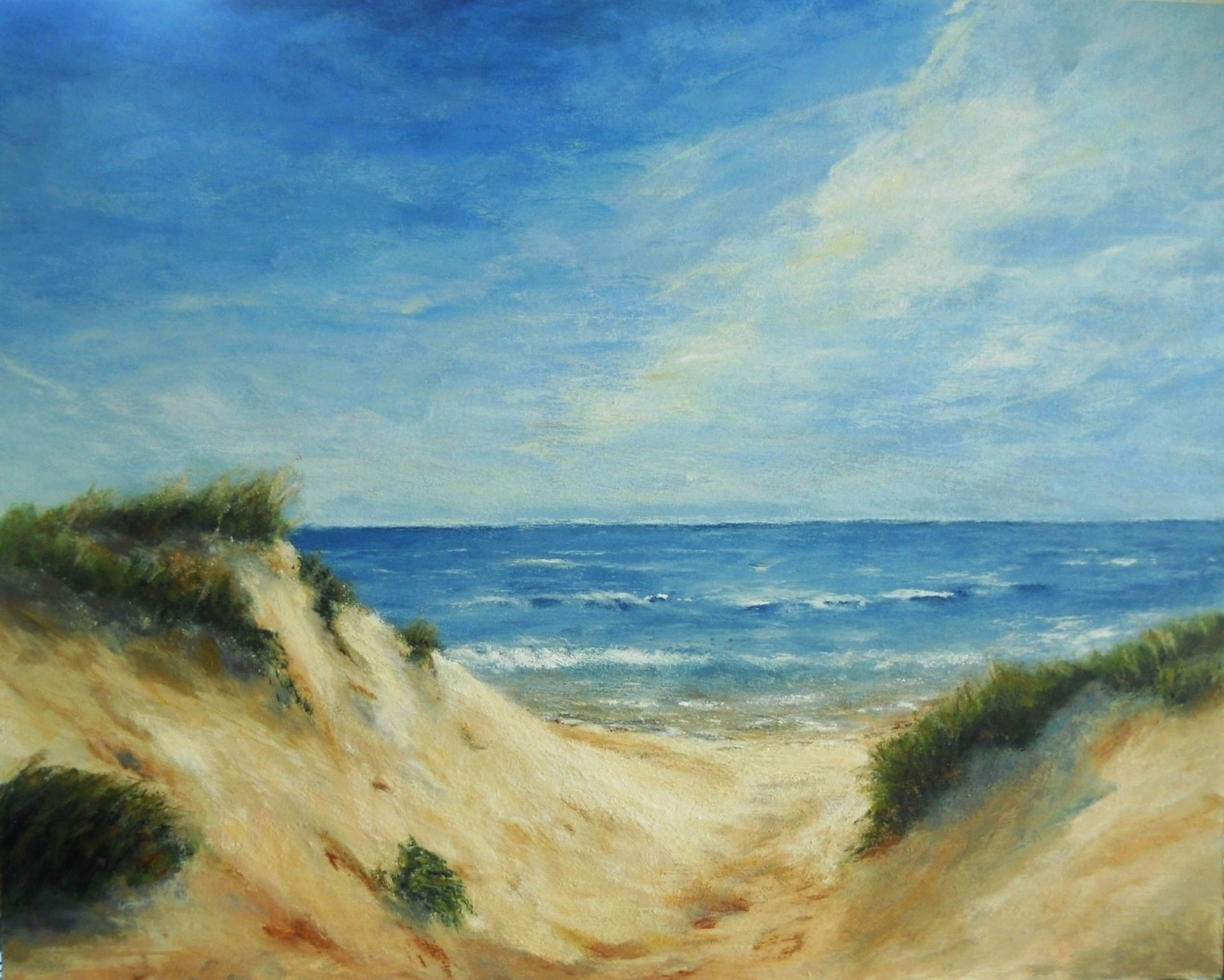 Sand dunes acrylic painting oil pastels by mary for Paintings to copy